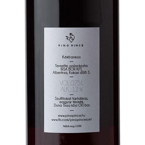 Pino Pince Kakasi Szuperhős 2019 vörös bor cimke