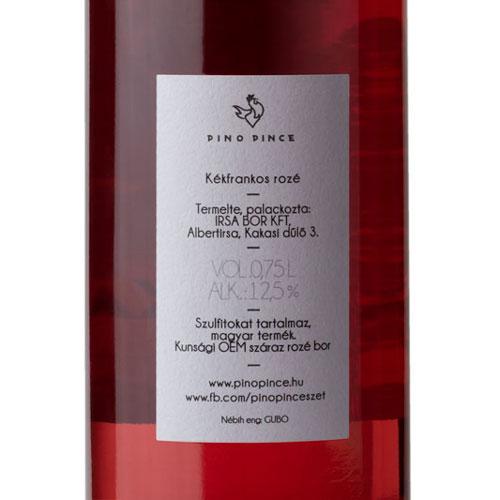 Pino Pince Nyalóka 2019 rozé bor cimke